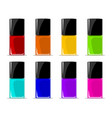 colors of nail lacquers contained in transparent vector image