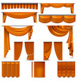 curtains and draperies interior decoration object vector image
