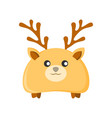 cute deer character animal vector image vector image