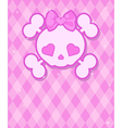 Cute Skull background vector image