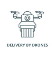 delivery drones line icon linear vector image vector image