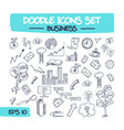 doodle icons set - business vector image