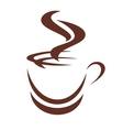 doodle sketch a steaming cup coffee vector image vector image