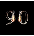 Fire and Smoke font Numbers 9 0 vector image vector image