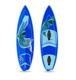 flat of surfing board vector image
