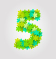floral numbers green flowers vector image vector image