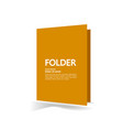 folder and element for business concept vector image