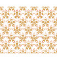 geometric flower floral seamless pattern vector image vector image