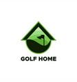golf home logo vector image vector image