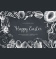 happy easter day vintage design vector image vector image