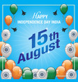 happy independence day india banner vector image vector image