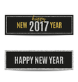 Happy New Year 2017 banners silver and golden text vector image vector image