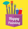 Happy Painting vector image vector image
