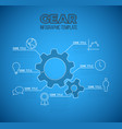 infographic blueprint report template vector image vector image