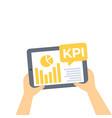 kpi business analytics key performance indicators vector image vector image