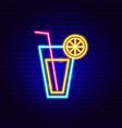 lemonade drink neon sign vector image vector image