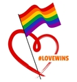 LGBT Rainbow Flag and Heart vector image