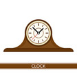 mantel clock isolated vector image
