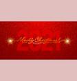 merry christmas 2021 handwritten lettering vector image vector image