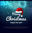 merry christmas and new year xmas background with vector image vector image