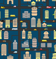 Night city pattern Skyscrapers and transportation vector image vector image