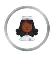 Nurse icon in cartoon style isolated on white vector image vector image