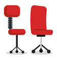 office chairs isolated icon vector image
