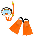 Orange swimming equipment vector image