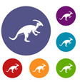 parazavrolofus icons set vector image