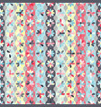 pattern with flowers on strips circles vector image vector image