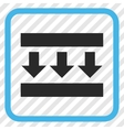Pressure Down Icon In a Frame vector image vector image
