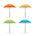 realistic detailed 3d sun umbrella set vector image vector image