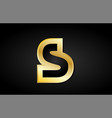 s gold golden letter logo icon design vector image