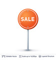 sale road sign vector image vector image