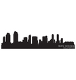 san diego california skyline detailed silhouette vector image vector image