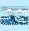 sea wave landscape graphics vector image vector image