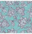 Seamless pattern beautiful decorative stylized vector image