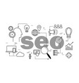 seo optimization concept in search engine vector image