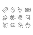 set business icons such as touchscreen gesture vector image vector image