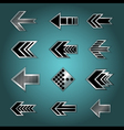 Set of design arrows vector image