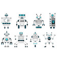 set robot characters futuristic monsters cyborgs vector image