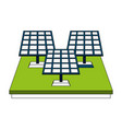 solar panels energy vector image vector image