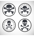 Stamp with skull and crossbones vector image vector image