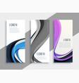 stylish wavy abstract banner set vector image vector image