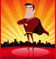 super hero in the city vector image
