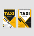 taxi service layout vertical design taxi vector image