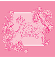 valentine pink card 380 vector image vector image