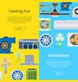 ventilation industrial air conditioner heat vector image