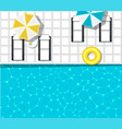 water park banner with swimming pool vector image vector image
