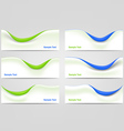 Wavy Business Templates vector image vector image
